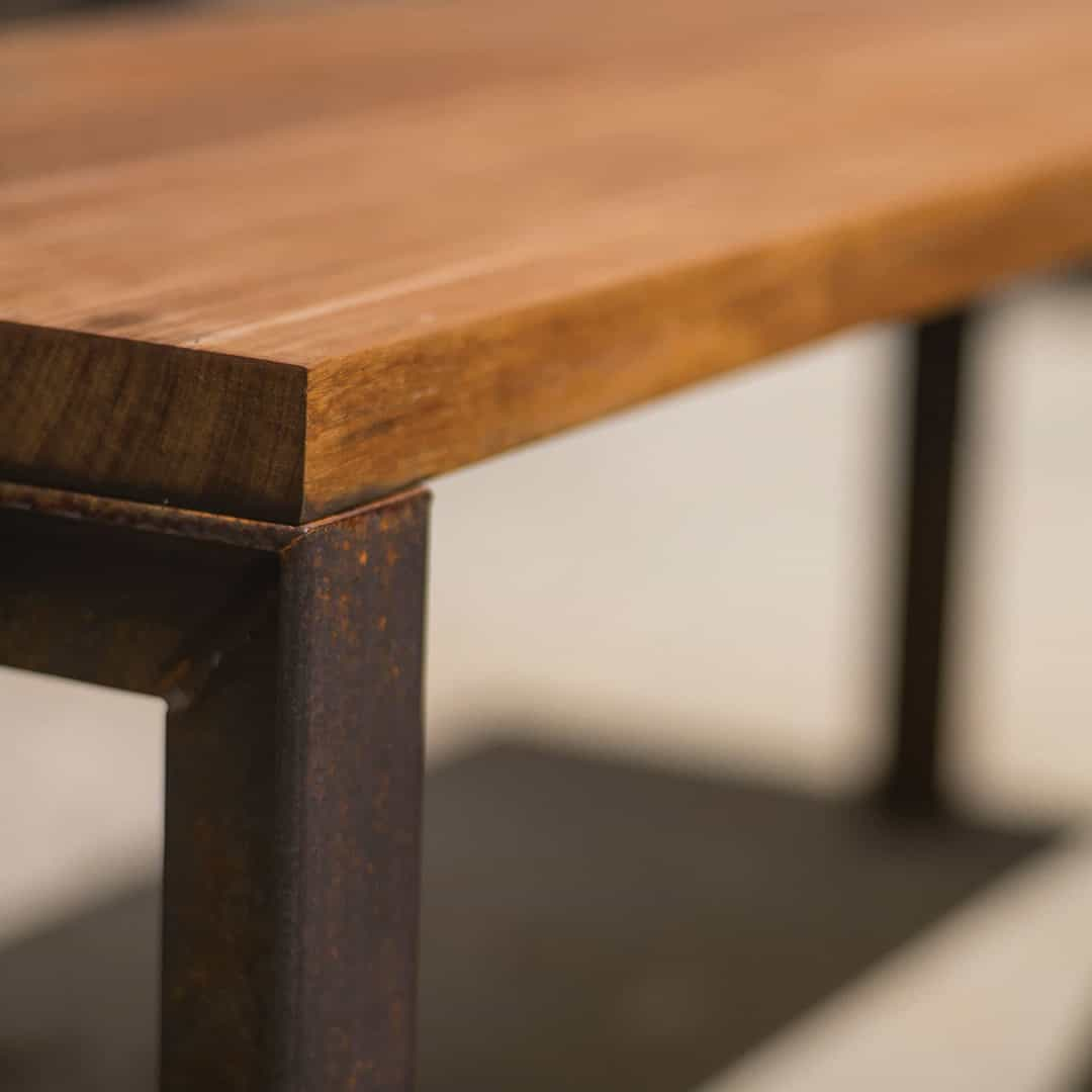 Bespoke Steel and Hardwood Table Set Photo